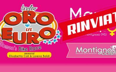Trofeo Oro in Euro per donne professioniste RINVIATO!